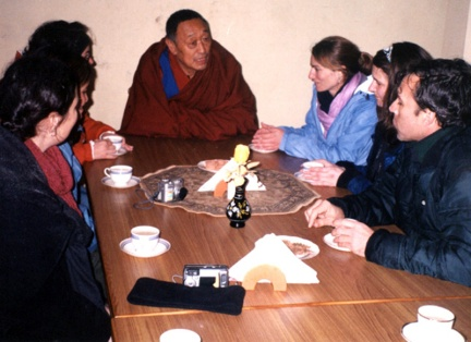 Tea with the Abbot