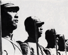 Japanese Soldiers with bayonets