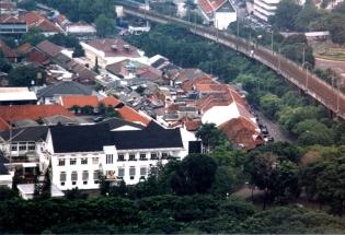 Aerial of Citadelweg Pasar Baru and Park Hotel