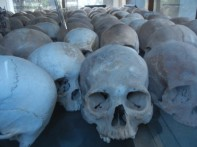 Skulls at Choeung Ek