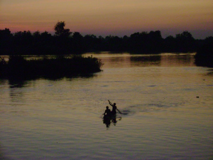 Sunset on the Mekong Delta