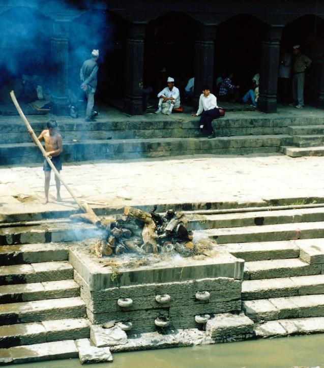 Cremation Pyre at Pashupatinath Temple