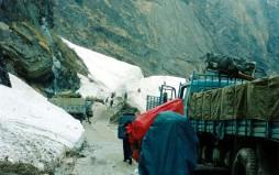Glacier versus Road