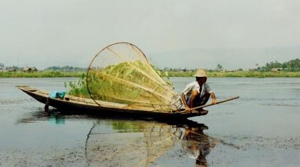 Traditional Inle Lake Fisherman