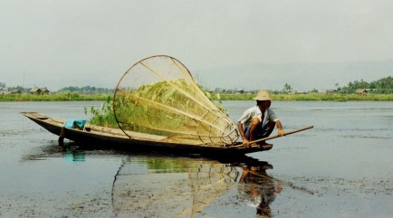 Traditional Inle Lake Fisherman