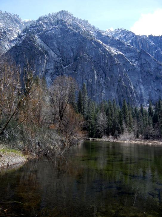 Snow Dusting on Yosemite