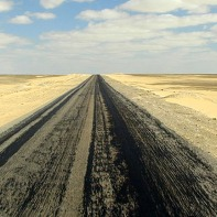 Desert road to Cairo