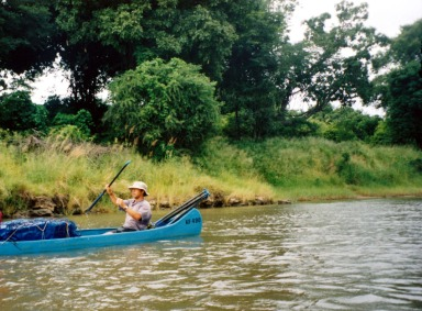 Canoeing Down the Zambezi