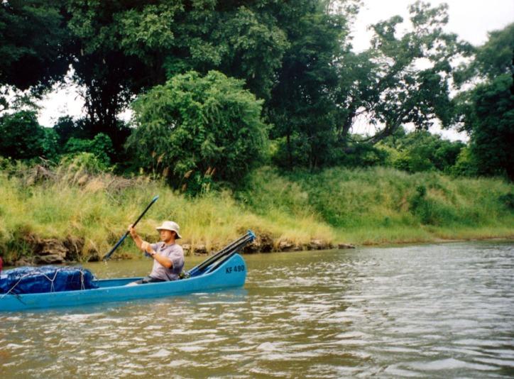 Canoeing Down the Zambezi